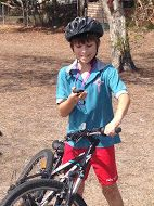 Bicycle geocaching